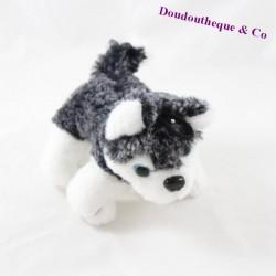 Hutu dog peluche SERNOR TOYS grey white blue eyes 16 cm