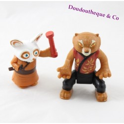 Lot of 2 McDonald's Kung Fu panda Tigress and Shifu figurines