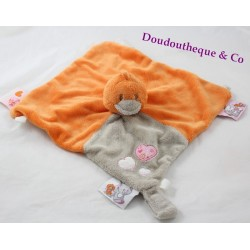 Flat Doudou Babette bird NOUKIE'S Iris and Babette ties pink nipple flower 26 cm