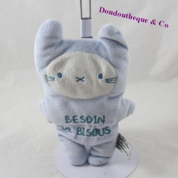 Doudou semi flat cat TAPE A Oeil Tao Need sun for white blue kisses 20 cm