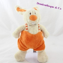 Peluche lapin ANNA CLUB PLUSH salopette orange 27 cm