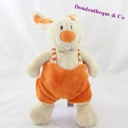 Rabbit cub ANNA CLUB PLUSH orange overalls 27 cm