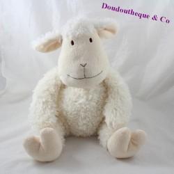 Peluche mouton ATMOSPHERA blanc beige 30 cm