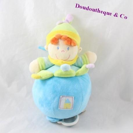 Musical towel NICOTOY boy blue yellow 27 cm