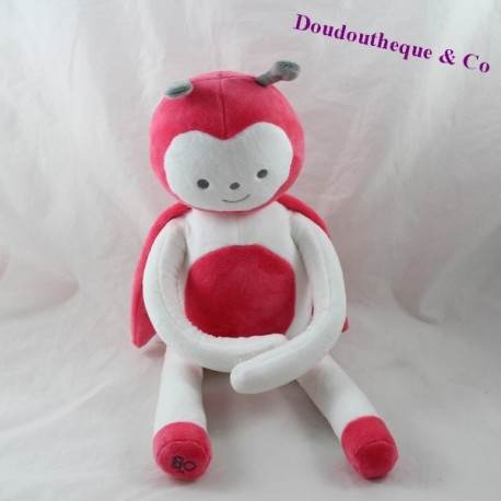 Pink-white OBAIBI ladybug 42 cm