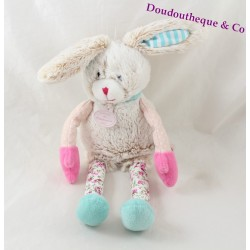 Doudou rabbit DOUDOU AND COMPAGNY The pink flowering choupidoux DC2763 30 cm