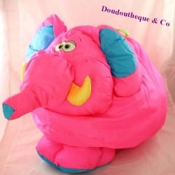 Elephant cub FISHER PRICE Puffalump pink parachute canvas 37 cm