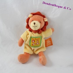 Mini lion doudou MOULIN ROTY The Loustics orange yellow 17 cm