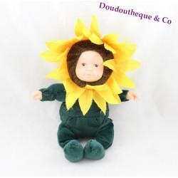 Baby sunflower doll ANNE GEDDES yellow green 24 cm