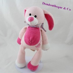 Baby NAT pink stripes baby rabbit 26 cm