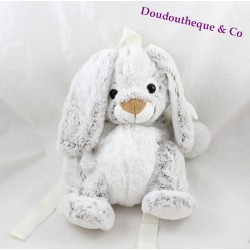 RODADOU rabbit plush backpack mottled white grey 36 cm