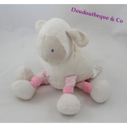 Lila sheep peluche MOULIN ROTY Lila and Patachon white lamb 20 cm