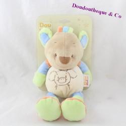Peluche koala DOUKIDOU Dou Kidou bleu vert 25 cm