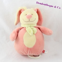 Musical ball ball rabbit TEX pink yellow scarf 20 cm