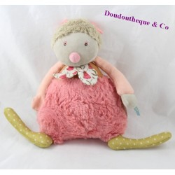 Peluche musicale luciole MOULIN ROTY Les tartempois rose 24 cm