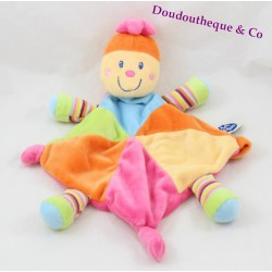 Doudou flat turtle MOTS D'ENFANTS multicolored diamond 32 cm