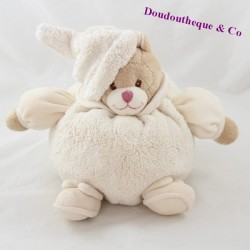 Ball towel bear BUKOWSKI Ivo white cream cap 21 cm