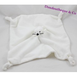 Doudou flat seal YOU TOYS white square knots 30 cm