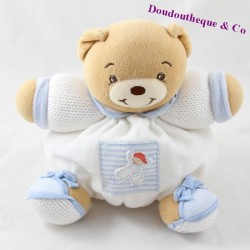 Doudou ball bear KALOO blue child stripes 18 cm