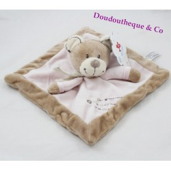 Pink and beige NICOTOY flat jacket with cross seam scarf 20 cm