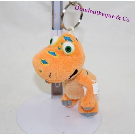 Key ring towel Samy LE DINO TRAIN orange dinosaur cartoon 12 cm