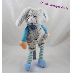 Doudou rabbit DOUDOU AND COMPAGNY The blue maroon Choupidoux DC2764 30 cm