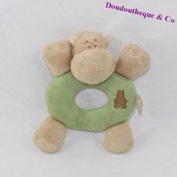 NOUKIE'S Hippoum green and brown rattle 14 cm