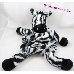 Peluche zèbre ETAM range pyjama doudou bouillotte noir blanc 58 cm