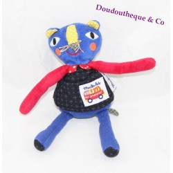 Doudou panther MOULIN ROTY The red blue popipop 20 cm