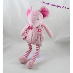 Peluche Lola mouse ARTHUR AND LOLA BEBISOL pink 37 cm