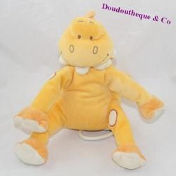Peluche musicale dinosaure BENGY orange beige 20 cm