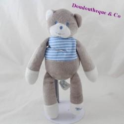 Mustela blue grey MUSTI bear doudou 28 cm