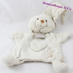 Doudou puppet bear DOUDOU AND COMPAGNIE organic white cotton 25 cm