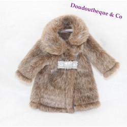 Fur coat Les Chéries COROLLE Paris chic brown for doll