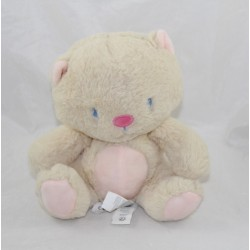 Pink beige SERGENT MAJOR cat towel sitting 19 cm