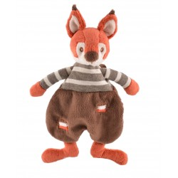 Flat Doudou Jumpy Squirrel BUKOWSKI orange brown crest 24 cm