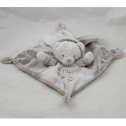Flat Teddy bear SIMBA TOYS BENELUX my blankie rabbit white Brown Nicotoy