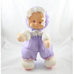 FISHER PRICE Puffalump Kids doll purple vinyl head 34 cm