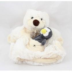 Doudou puppet bear HISTORY OF OURS penguin polar bear pocket HO1357