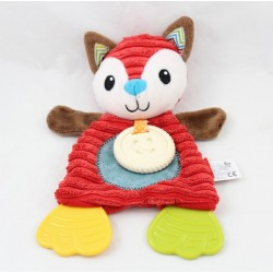 Flat fox infantINO brown red tooth ring