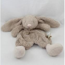 Doudou flat rabbit JELLYCAT Bashfuls taupe beige pink snout 22 cm
