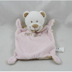 Flat Doudou Bear Clothing Bear Cuddly Pink Striped 21 cm