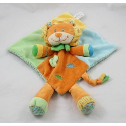 Doudou flat lion VETIR diamond green leaf 34 cm
