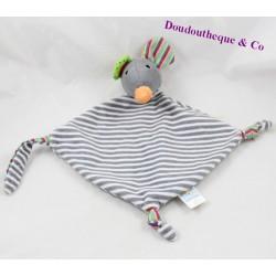 Soft flat mouse BOB DER BAR grey stripes 32 cm