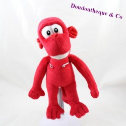 Peluche singe Looky LOOK VOYAGE rouge 26 cm