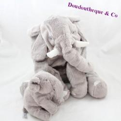 Elephant towel and her baby IKEA Kapplar gray 28 cm