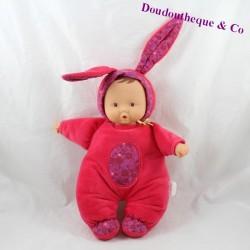 Poupée veilleuse Babipinpin COROLLE Grenadine poupon bébé lapin 30 cm