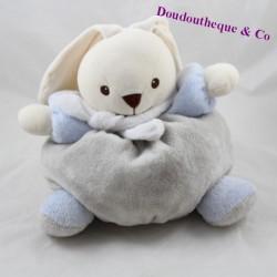 Doudou boule lapin NOUNOURS gris bleu 22 cm