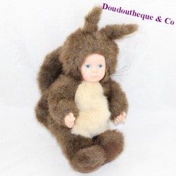 Baby squirrel doll ANNE GEDDES beige brown 25 cm
