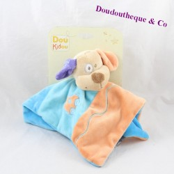 Doudou flat dog DOUKIDOU Dou Kidou orange blue 26 cm